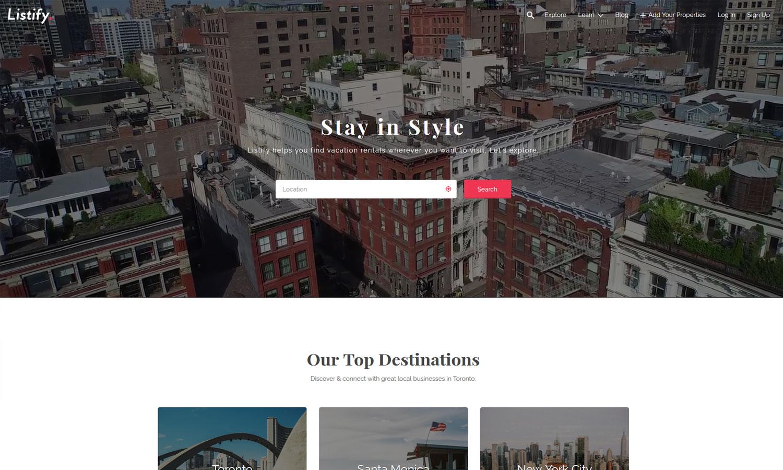 Listify Finder WordPress Directory Theme
