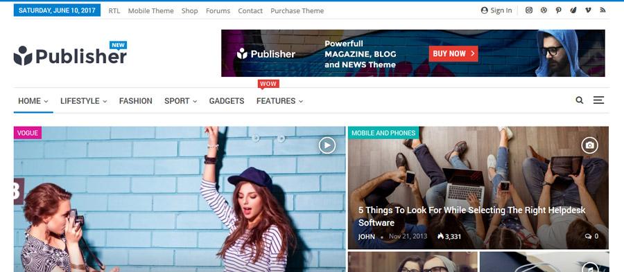 Publisher WordPress Theme